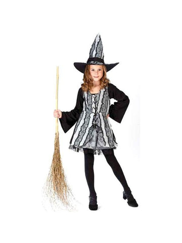 Childs Goth Rose Witch Costume-COSTUMEISH