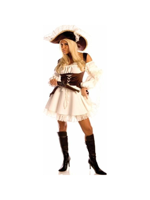 Adult Naughty Caribbean Pirate Costume-COSTUMEISH