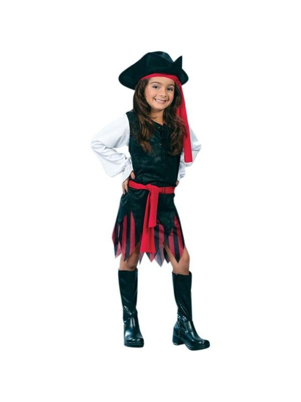 Child's Classic Caribbean Pirate Girl Costume-COSTUMEISH