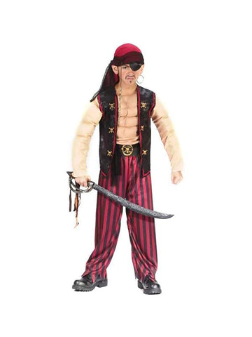 Childs Muscle Pirate Costume