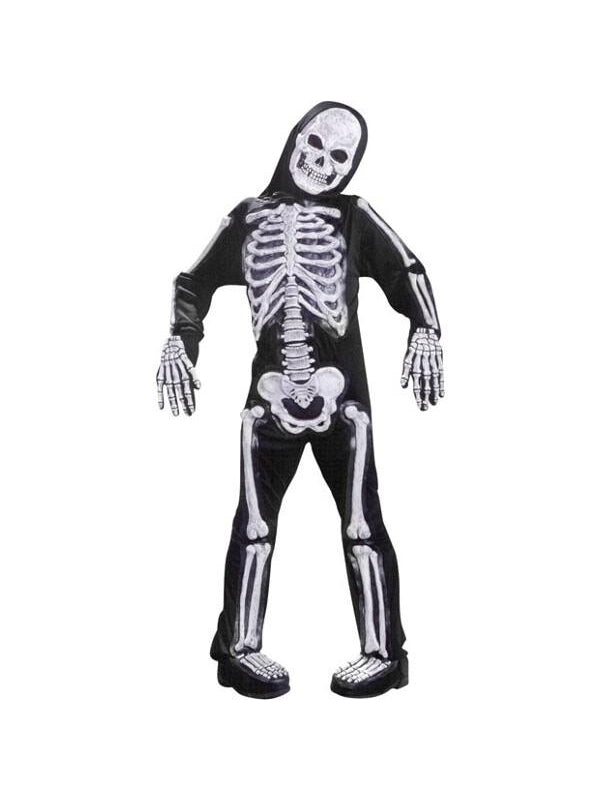 Child's Deluxe Skeleton Costume-COSTUMEISH