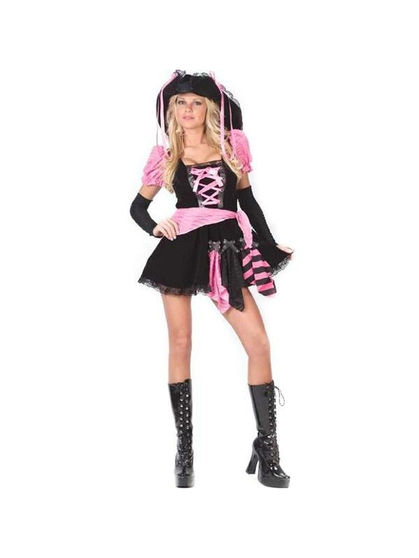 Teen Pink Punk Pirate Costume-COSTUMEISH