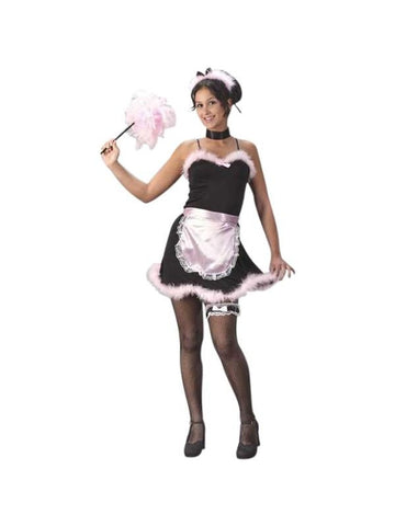 Teen Pink French Maid Costume-COSTUMEISH