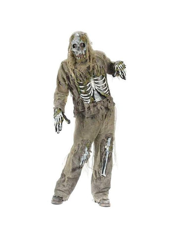 Teen Skeleton Zombie Costume-COSTUMEISH