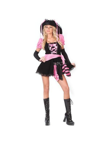 Adult Pink Sexy Pirate Costume-COSTUMEISH