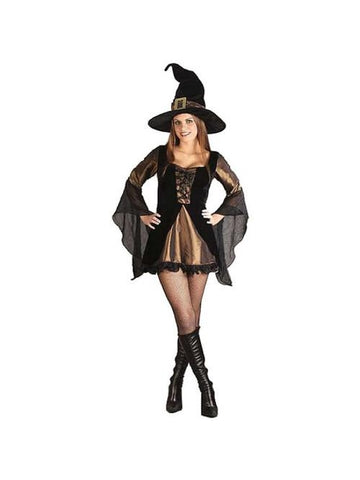 Adult Sexy Velour Witch Costume-COSTUMEISH
