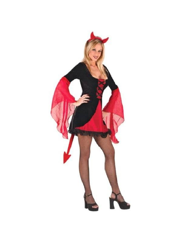 Adult Sexy Wicked Devil Dress Costume-COSTUMEISH
