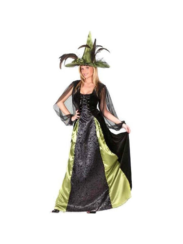 Adult Goth Maiden Witch Costume-COSTUMEISH