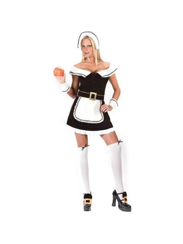 Adult Sexy Pilgrim Girl Costume-COSTUMEISH