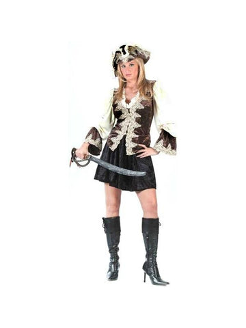 Adult Sexy Royal Lady Pirate Costume