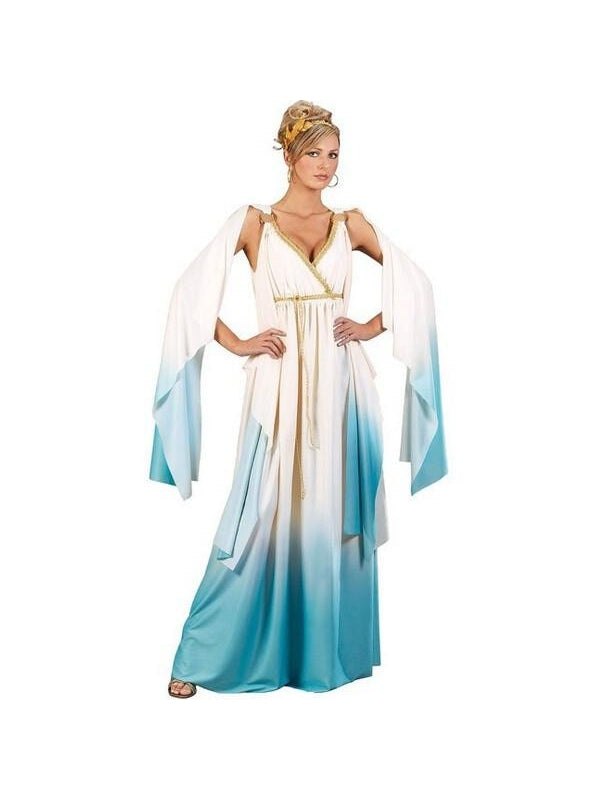 Adult Greek Goddess Gown Costume-COSTUMEISH