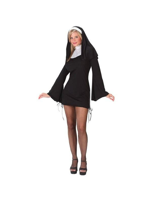 Adult Sexy Naughty Nun Costume-COSTUMEISH