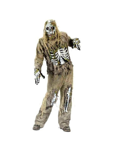 Adult Skeleton Zombie Costume-COSTUMEISH