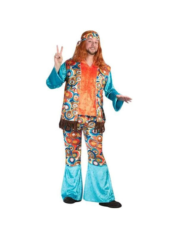 Adult Groovey Hippie Guy Costume-COSTUMEISH