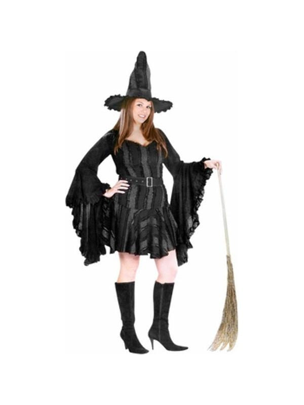 Adult Plus Size Sexy Stitch Witch Costume-COSTUMEISH