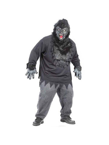 Adult Plus Size Easy Gorilla Costume-COSTUMEISH