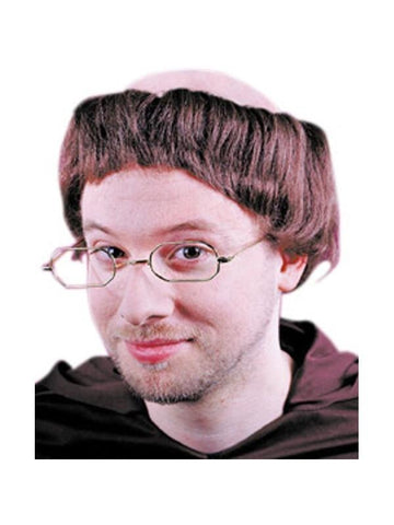 Adult Friar Monk Costume Wig-COSTUMEISH