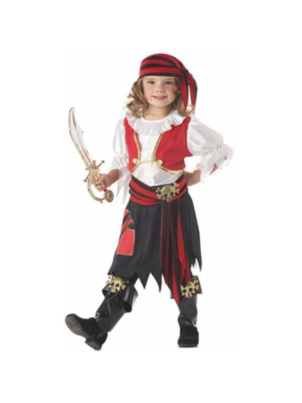 Toddler Penny The Pirate Girl Costume-COSTUMEISH