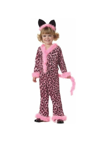 Child's Pink Leopard Girl Costume-COSTUMEISH