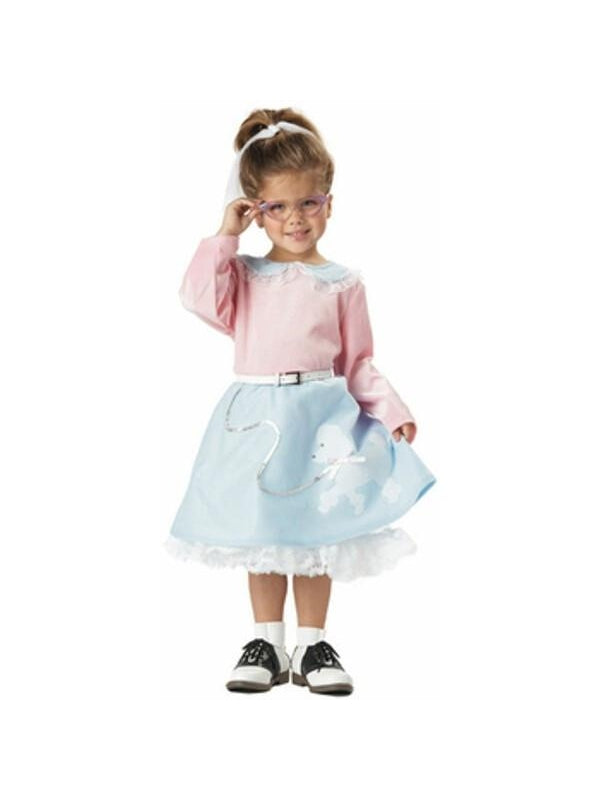 Toddler 50s Poodle Dress Costume-COSTUMEISH