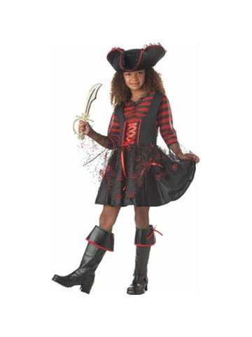 Child's Captain Girl Pirate Costume-COSTUMEISH