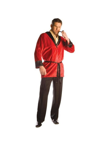 Adult Mens Red Smoking Jacket