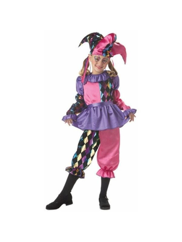 Child's Colorful Jester Costume-COSTUMEISH