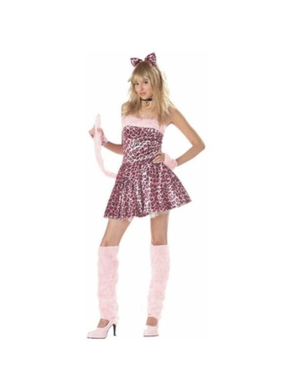 Teen Pink Kitty Cat Costume-COSTUMEISH