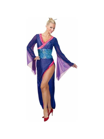 Adult Womens Blue Sexy Geisha-COSTUMEISH