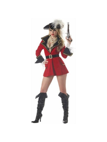Adult Sexy Captain Treasure Pirate Costume-COSTUMEISH