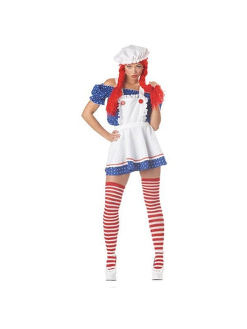 Adult Sexy Ruffled Rag Doll Girl Costume