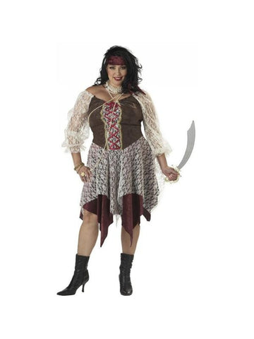 Adult Plus Size South Seas Pirate Costume-COSTUMEISH