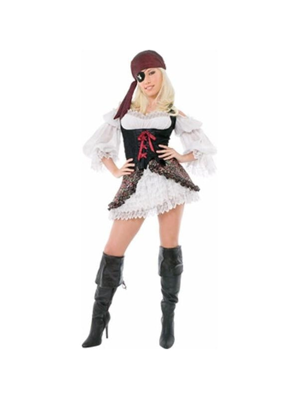 Adult Playboy Sexy Buccaneer Pirate Costume-COSTUMEISH