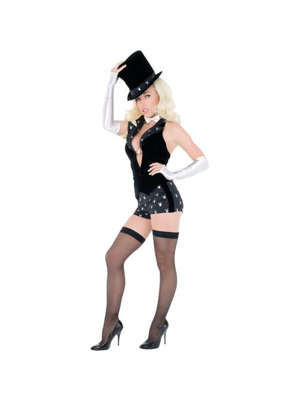 Adult Sexy Playboy Magician Costume-COSTUMEISH