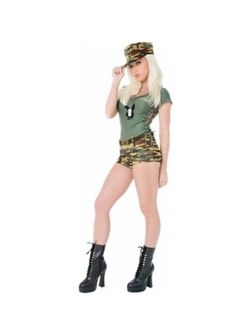 Adult Sexy Playboy Army Girl Costume-COSTUMEISH