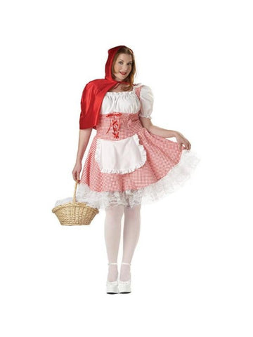 Teen Plus Size Sexy Red Riding Hood-COSTUMEISH