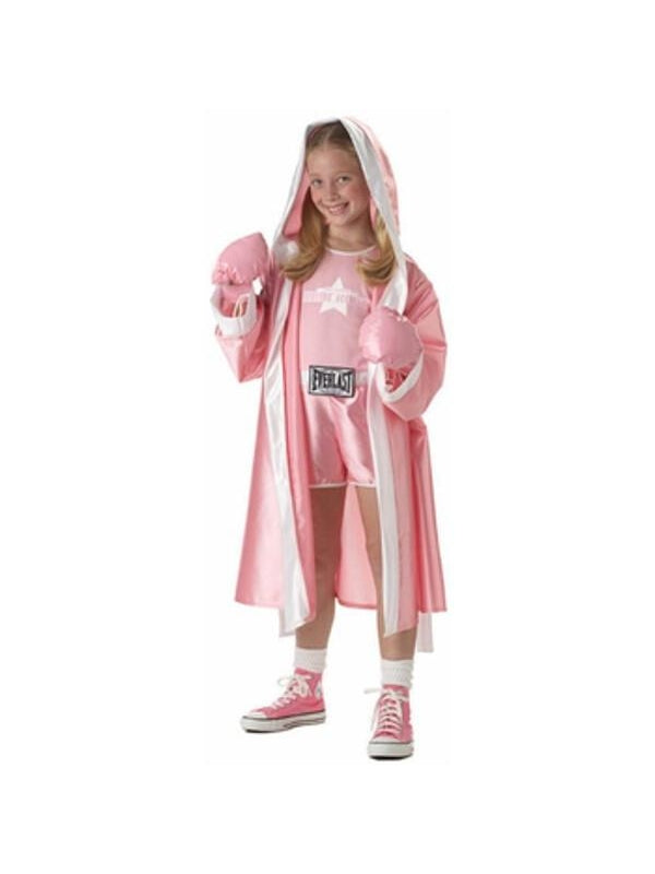 Tween Everlast Pink Boxer Girl Costume-COSTUMEISH