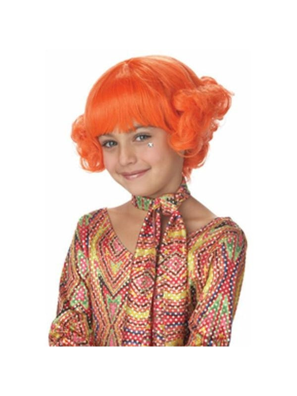 Child's Orange Candy Curls Wig-COSTUMEISH