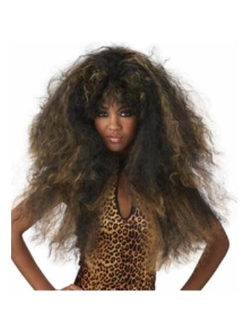 Black/Brown Wild Thang Wig-COSTUMEISH