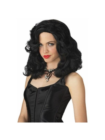 Ladies Black Glamour Girl Costume Wig