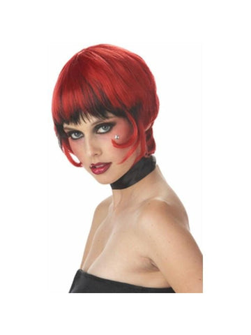 Red/Black Vampiress Wig