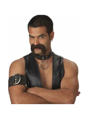 Leather Daddy Costume Moustache-COSTUMEISH