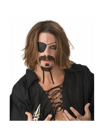 Rogue Pirate Goatee Mustache-COSTUMEISH