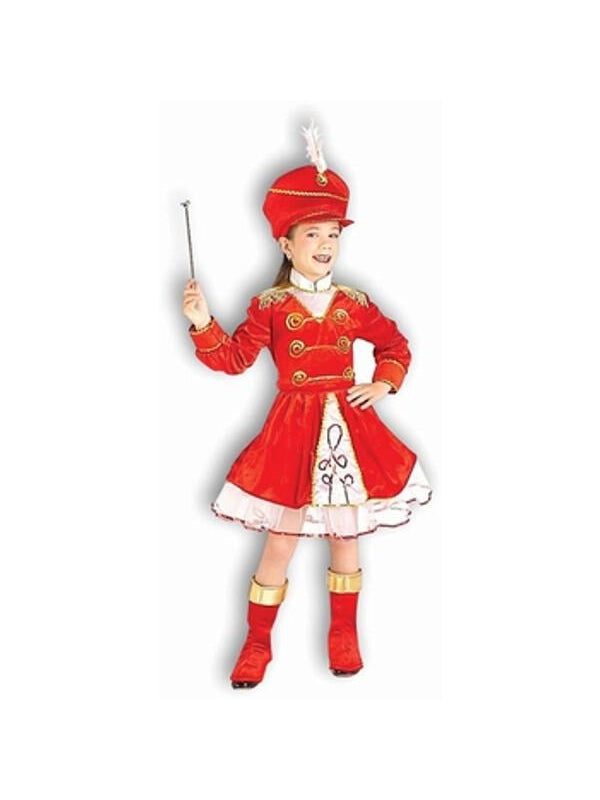 Child's Girl Drum Major Costume-COSTUMEISH