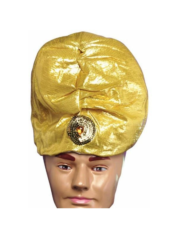 Adult Gold Turban With Jewel-COSTUMEISH
