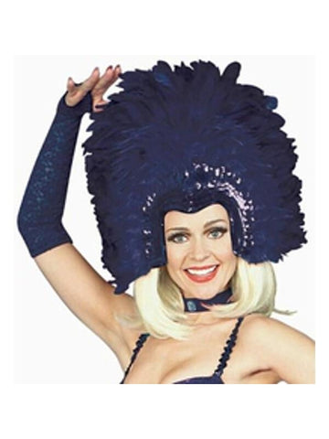 Adult Purple Feathered Show Girl Headpiece-COSTUMEISH