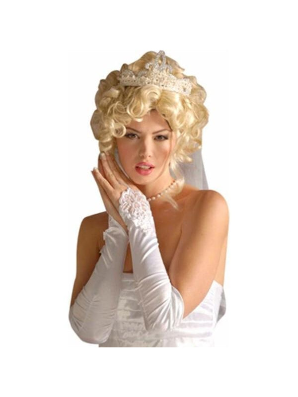 Adult White Bridal Gloves-COSTUMEISH