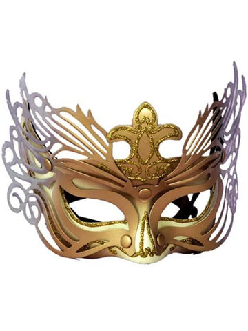 Adult Gold And Silver Detail Venetian Mask-COSTUMEISH