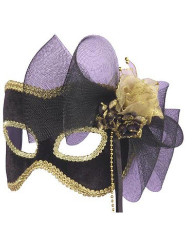 Adult Golden Flower Half Carnival Mask