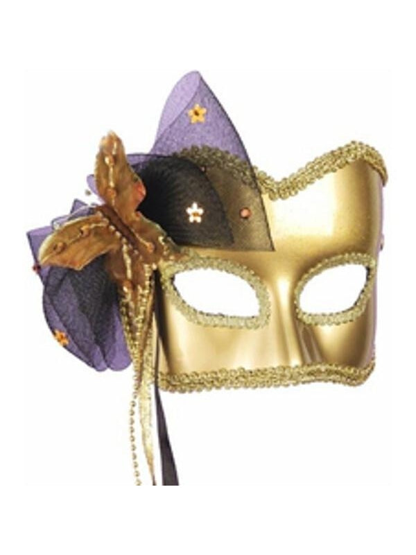 Adult Golden Butterfly Carnival Mask-COSTUMEISH